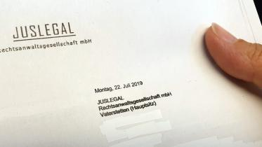 Brief von Juslegal